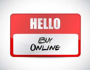 buy online name tag sign illustration