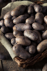 Raw Organic Purple Potatoes