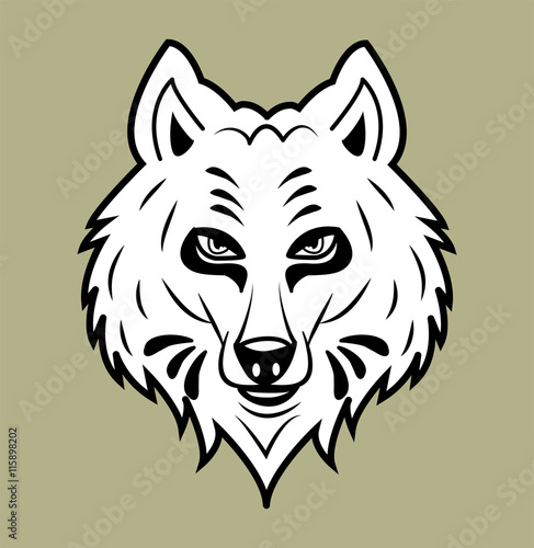 Wolf S Head For Coloring Book Vector Separate Background Testa Di