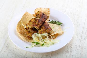 Vegetarian potato kebab