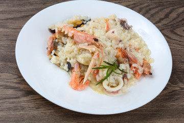 Seafood mix risotto