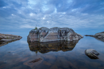 Stones at Ladoga Lake in Karelia, Russia
