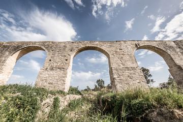 Kamares, the old aqueduct of Larnaca. Cyprus