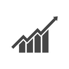 Growth chart - vector icon