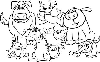 dogs cartoon coloring book
