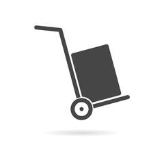 Handcart icon, vector icon