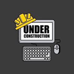 web site under construction  isolated icon design