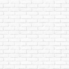 Seamless square white brick wall background.