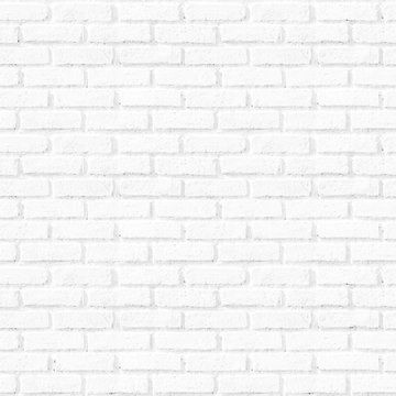 Seamless square white brick wall background