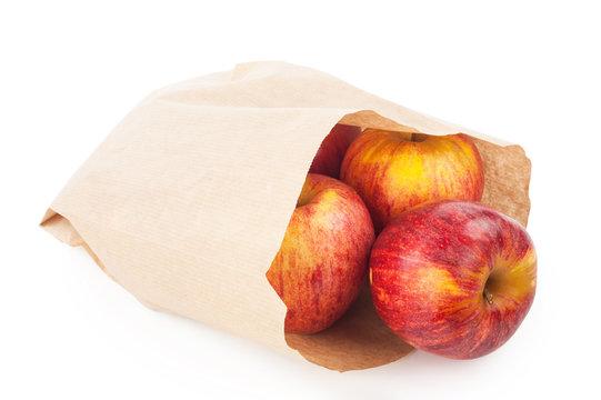 Apples in paper bag