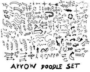 Vector hand drawn arrows set  eps10