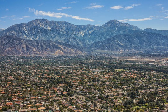 Gorgeous Aerial View of Mount Baldy, Orange County, California,