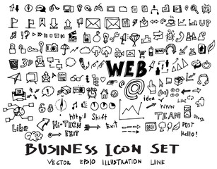 Business doodles sketch vector ink eps10