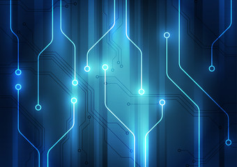 Abstract futuristic circuit technology background. Illustration Vector