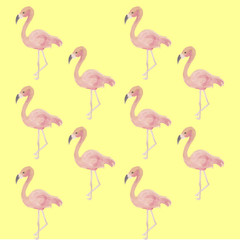 flamingos, background, vector, lovely, decorative, beautiful art.