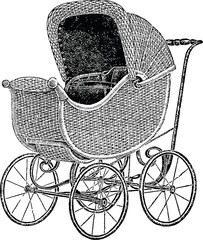 Vintage picture baby carriage