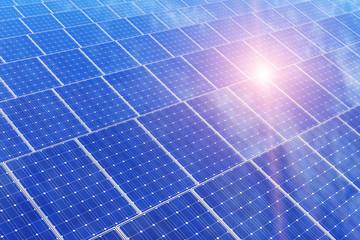 Electric solar battery panels