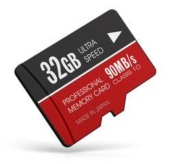High speed 32GB MicroSD flash memory cards