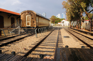 Old Jaffa railway station as a museum today in Neve Tzedek quarter of Tel Aviv.