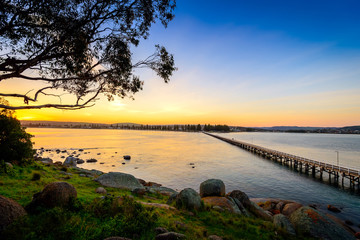 Sunset over the Victor Harbor
