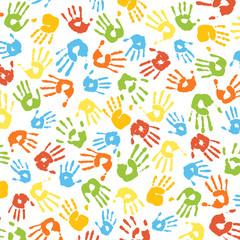 Handabdrücke von Kindern bunt Vielfalt