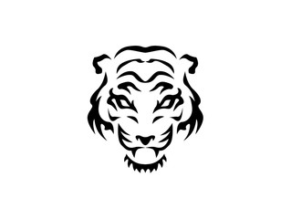 Tiger's head vector