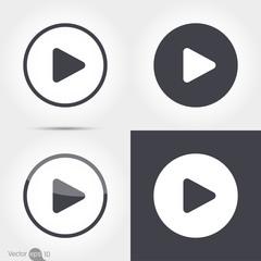 Play button icons, Vector