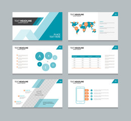 abstract page layout design template for presentation with info graphic elements design set