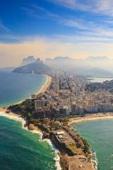 Wall Mural - Copacabana Beach and Ipanema beach in Rio de Janeiro, Brazil