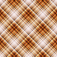 Checkered seamless red and orange pattern. Cowboy ornament. Abstract symmetrical background. Vector eps10