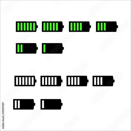 u0026quot battery life  battery level indicators black and green