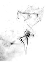 Abstract smoke moves on a black background