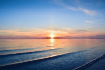 Sunset at seaside