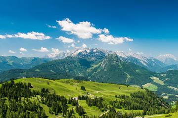 Panoramic view to Watzmann from Gosaukamm in Austria