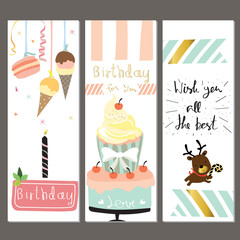 Colorful collection for banners,Flyers,Placards with cake,ice cr