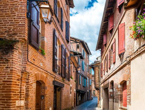 Rue à Albi dans le Tarn en Occitanie, France