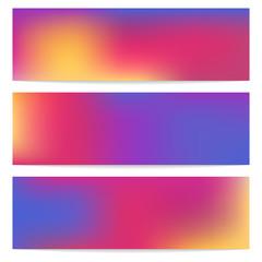 Horizontal banners set