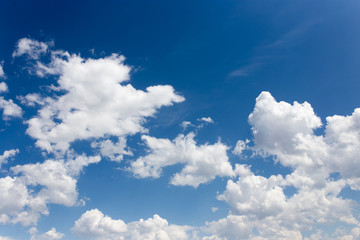 beautiful clouds against blue sky