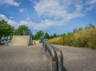 awesome railing close up skatepark