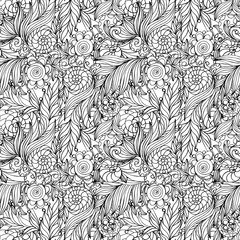 Coloring book page design with pattern. Mandala ethnic ornament. Isolated vector illustration in doodle style.