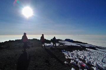 Hikers on Kilimanjaro