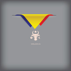Banner with stylized Moldova flag