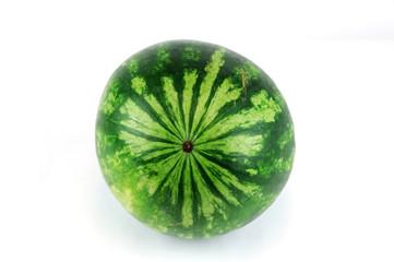 single watermelon on white background
