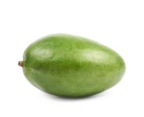 Ripe green mango fruit isolated