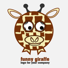 Funny giraffe logotype