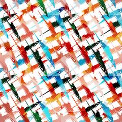 Graffiti on a black background Psychedelic seamless geometric pattern
