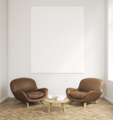 Room with armchairs and table