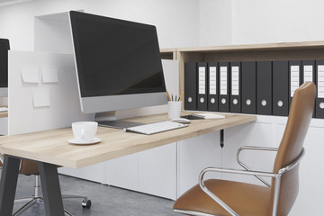 Modern workplace at office