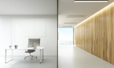 Office room and hallway