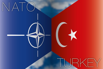 nato vs turkey flags